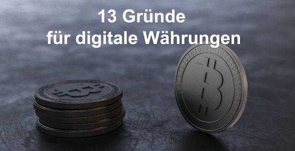 Hintergrundbild Blog mit 7 Bitcoin Münzen