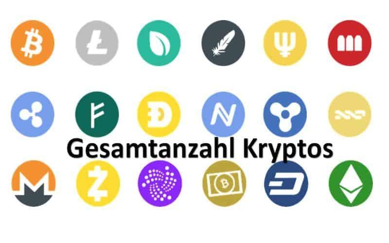 Verschiedene Krypto Währungen