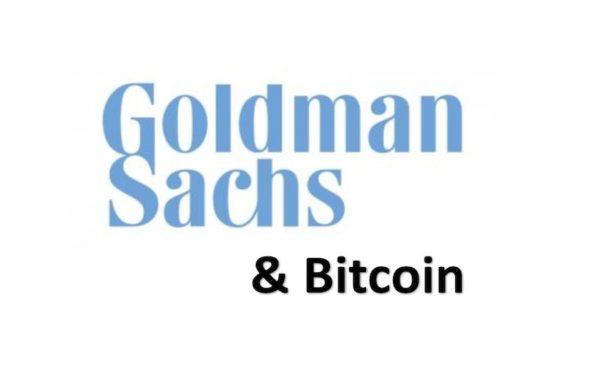 Goldman Sachs Logo & Bitcoin