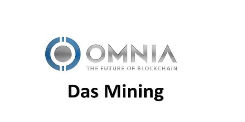 Omnia Mining Logo in grau und blau