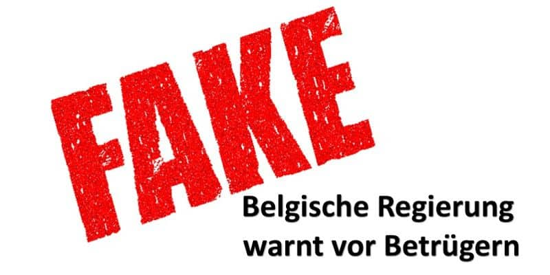Fake in roter Schrift