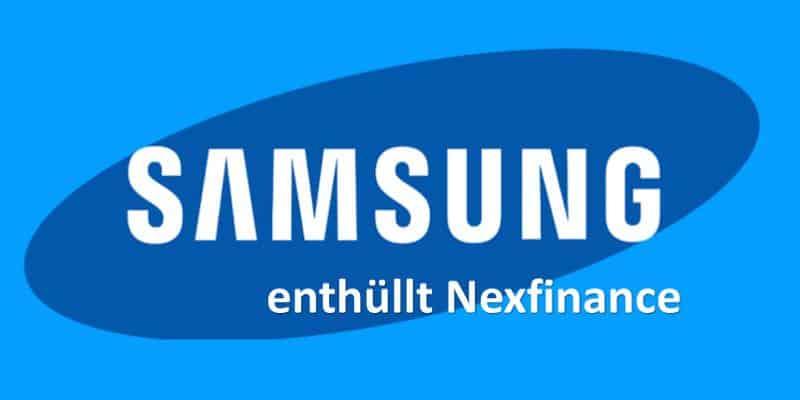 Blaues Logo mit weißer Schrift