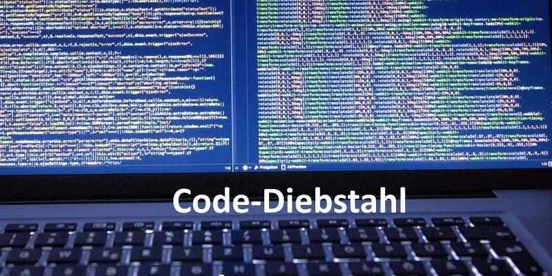 Laptop-Bildschirm mit Quellcode