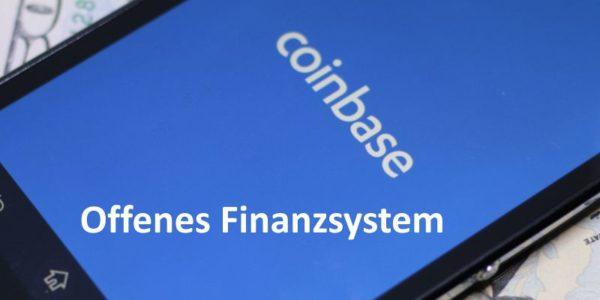 Auf Smartphone wird Coinbase Startseite angezeigt