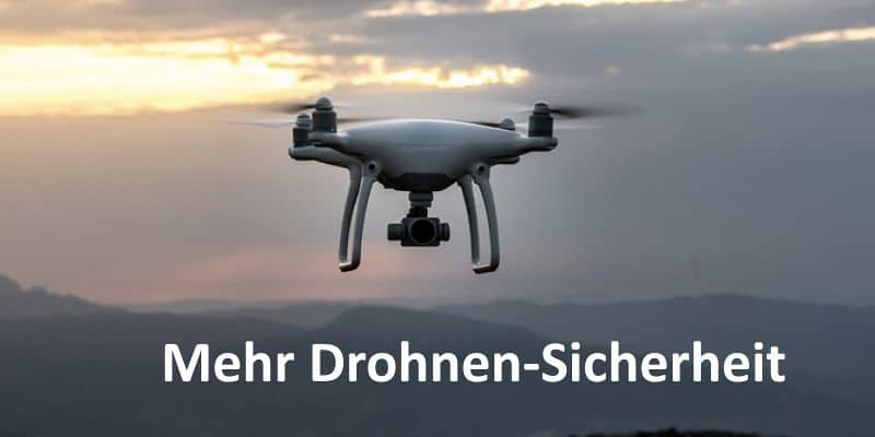 Eine fliegende Drohne