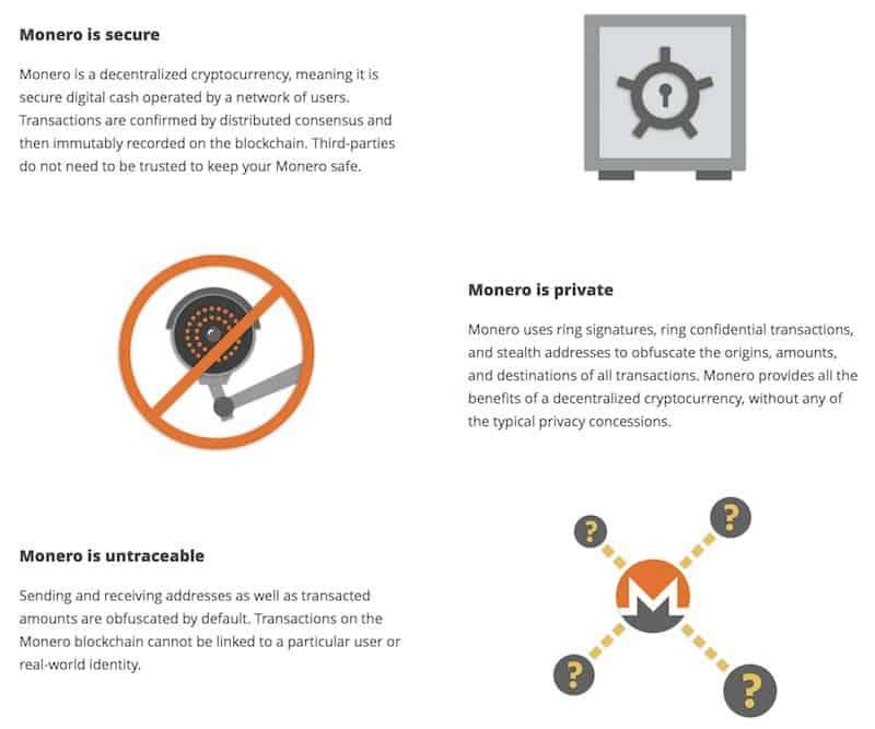 Eigenschaften der Coin mit Symbolen dargestellt