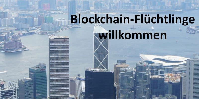 Panorama über Hongkong