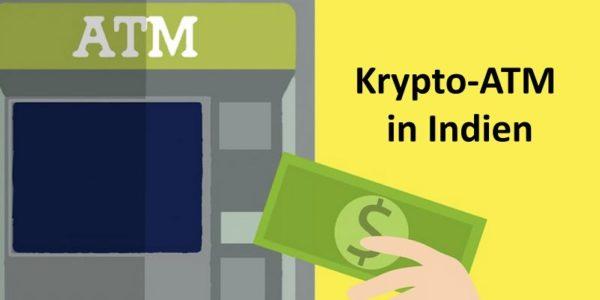 Ein Geldautomat und eine Hand, die einen Dollar-Schein hält