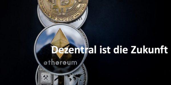 Krypto-Münzen Bitcoin, Ethereum, Ripple und Litecoin