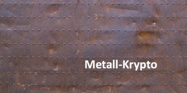 Ein Hintergrund aus Metall