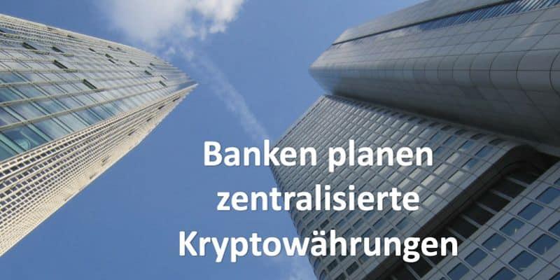 Bankengebäude aus Sicht von unten