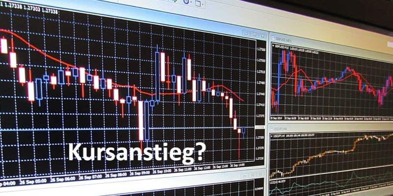 Kursanalysen auf Bildschirm