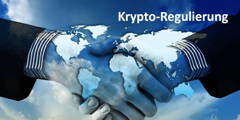 Ein Händeschlag und die Weltkarte