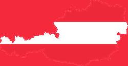Österreich Flagge mit Struktur des Landes