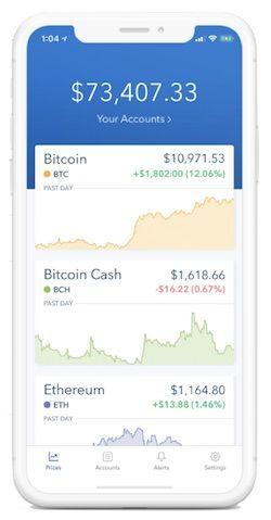 Mobiler Handel auf Coinbase
