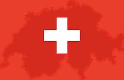 Schweiz Flagge mit Struktur des Landes