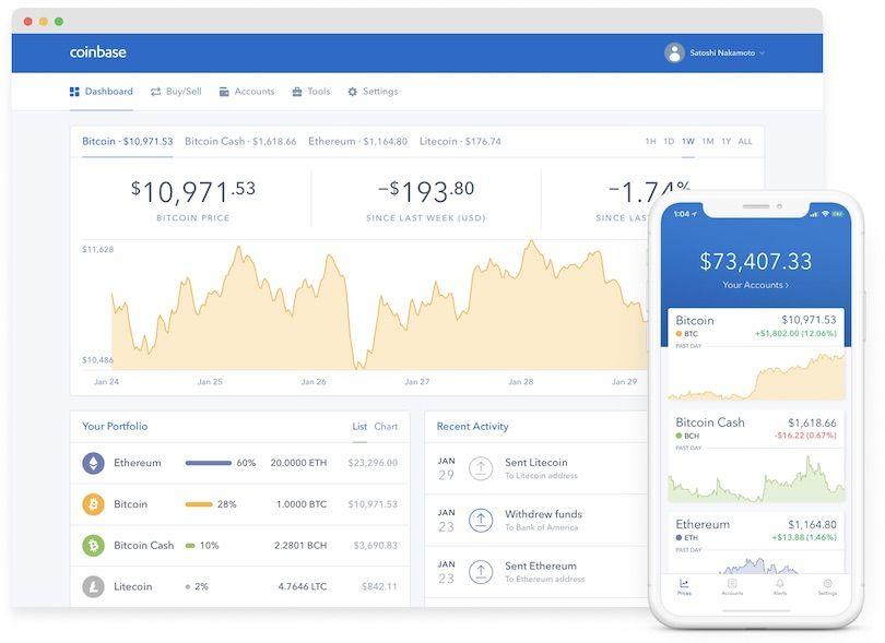 Coinbase auch mobil