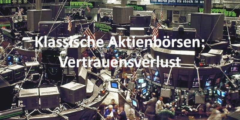Handelssaal einer Börse