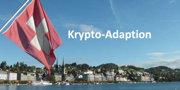 Ein See und die Schweizer Flagge