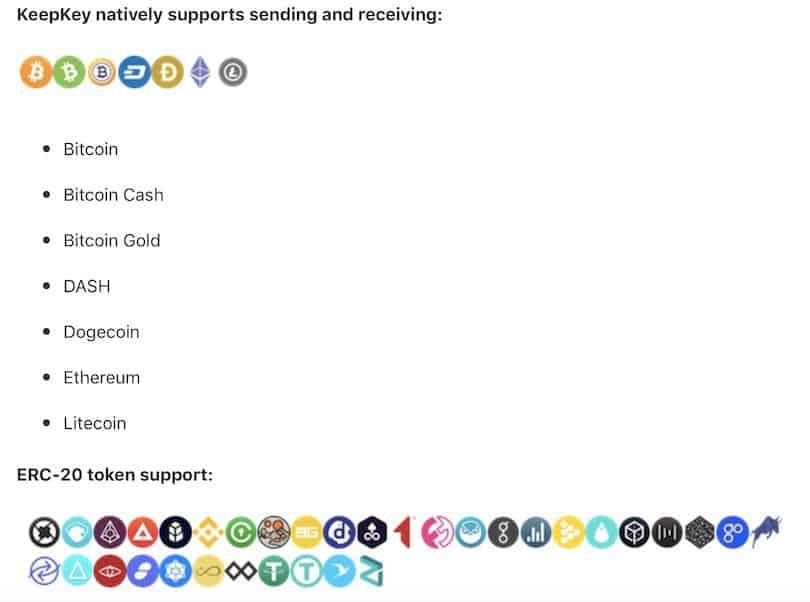 Unterstützte Crypto Coins mit Logos