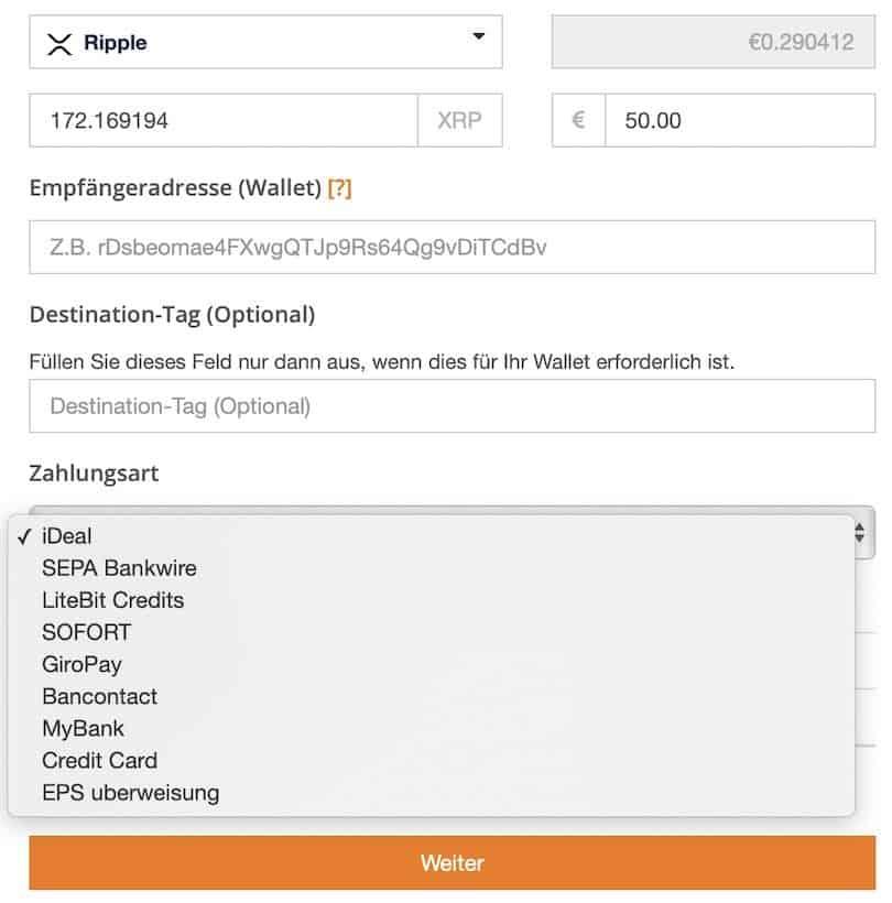 XRP bei Litebit