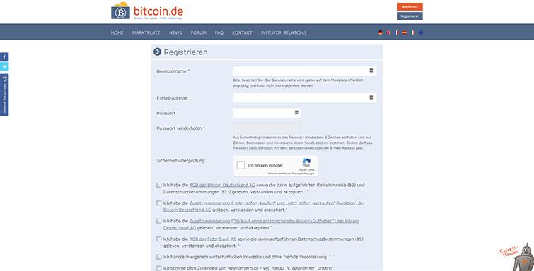Die Registrierung bei Bitcoin-de_2