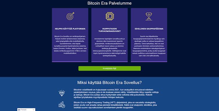 Bitcoin Era Mainpage Screenshot FI 2
