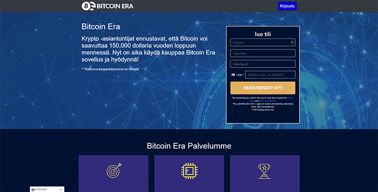 Bitcoin Era Mainpage Screenshot FI